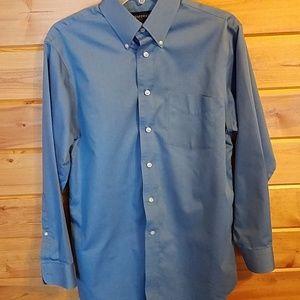 Stafford Blue Button Down Shirt